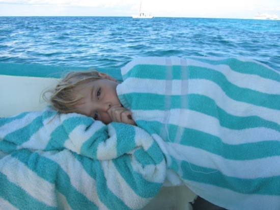 Sleepy after snorkeling