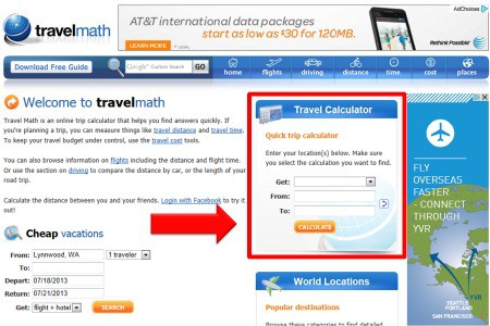travelmath.com to decide fly or drive