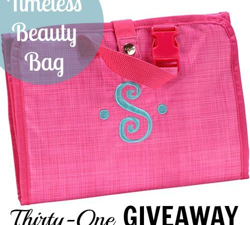 Thirty One Timeless Beauty Travel Bag Giveaway StuffedSuitcase.com #win #contest perfect for family kids vacation organization