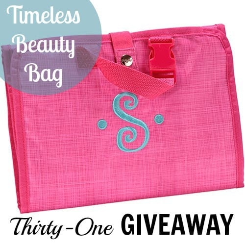 Timeless Beauty Travel Bag Thirty-One Review & Giveaway