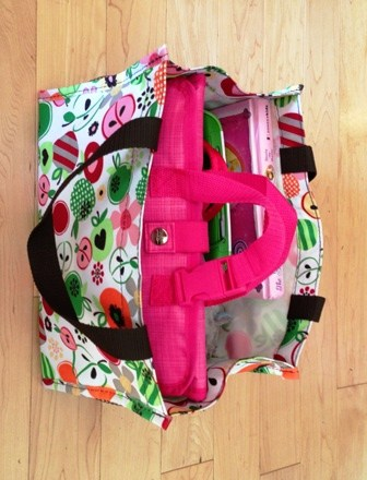 Thirty One Keep It Caddy with Timeless Beauty Bag for travel bags on road trips StuffedSuitcase.com