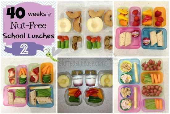 Week 2: 40 Weeks of Nut Free School Lunches StuffedSuitcase.com #peanut #treenut #free #kid #lunch