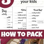 5 Steps to Teach Your Kids How to Pack