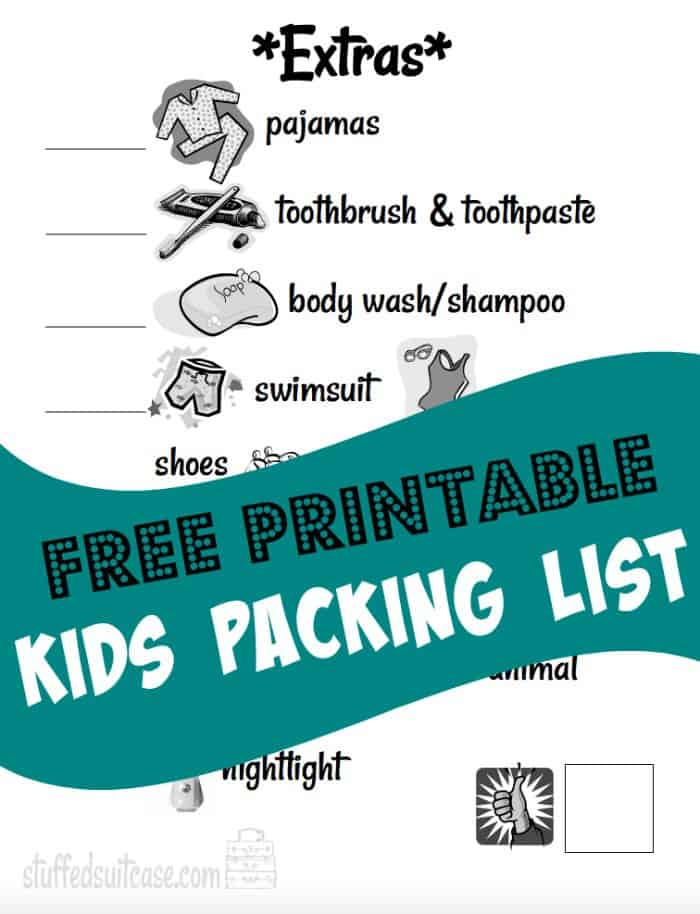 Would you love some packing tips for your next family vacation? Try my 5 steps to teaching your kids to pack with these free printable Kids Packing List sheets. StuffedSuitcase.com