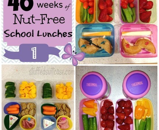 Week 1: 40 Weeks of Nut Free School Lunches    StuffedSuitcase.com #peanut #free #kid #lunch