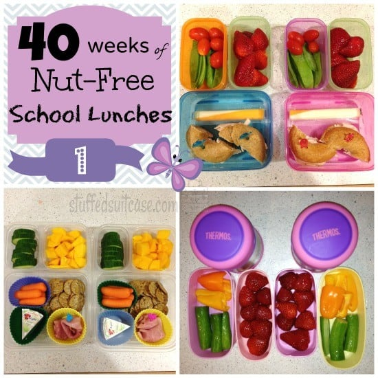 Week 1: 40 Weeks of Nut Free School Lunches || StuffedSuitcase.com #peanut #free #kid #lunch