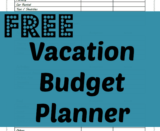 Free Vacation Budget Planner Printable