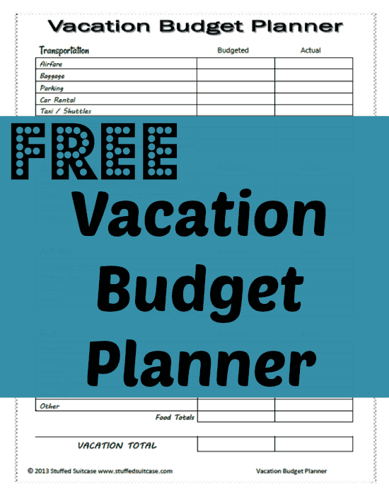 Free vacation budget planner printable for Best couples vacations on a budget