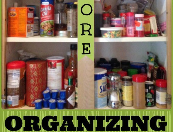 Organized Kitchen Cabinet: Spices