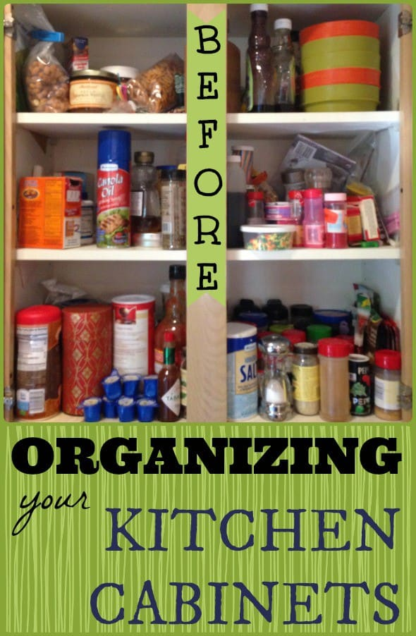 Organizing Before And After: Organized Kitchen Cabinet: Spices