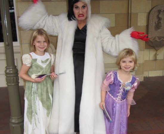 Throwback Thursday Travel Meeting Cruella de Vil at Disneyland Halloween Character StuffedSuitcase.com