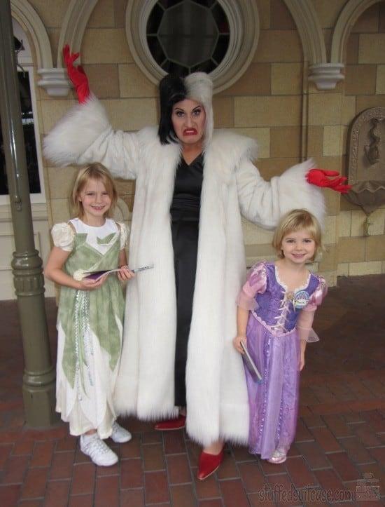 Throwback Thursday Travel Meeting Cruella de Vil at Disneyland Halloween Character StuffedSuitcase.com
