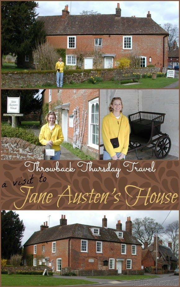 Throwback Thursday Travel for Talk Like Jane Austen Day - a visit to Jane Austen's House in Chawton England StuffedSuitcase.com