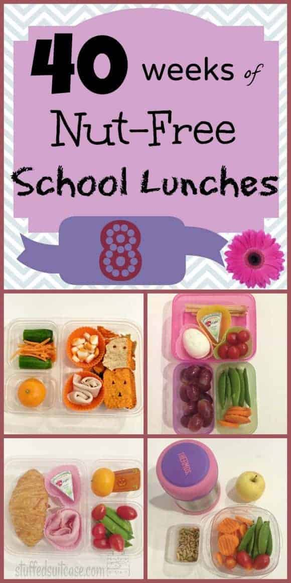 Week 8 of 40 Weeks of packed kids school lunches that are nut / peanut free StuffedSuitcase.com kid lunch
