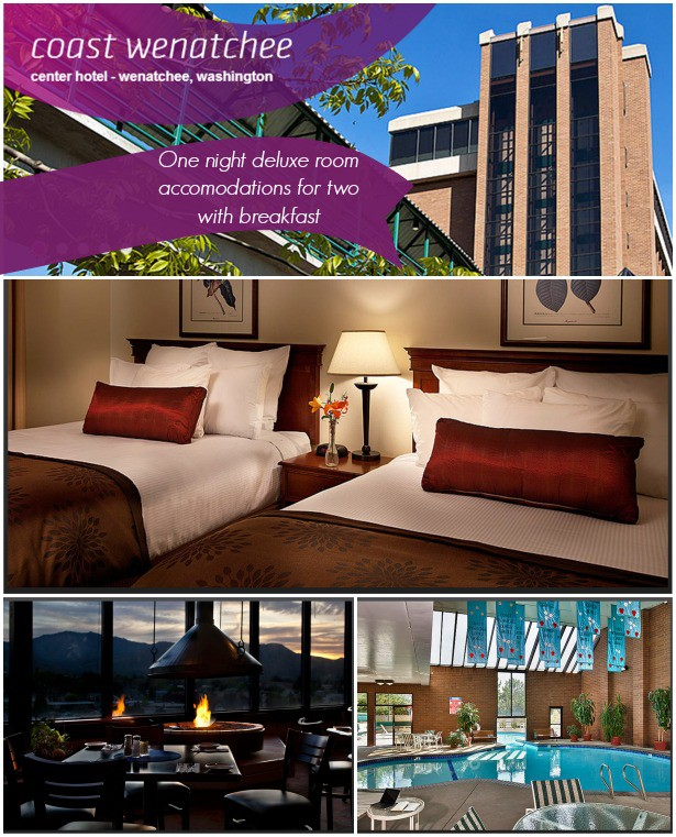 Win a one night deluxe accommodations with breakfast at the Coast Wenatchee Center Hotel for a $10 donation to Passports with Purpose buildOn 2013 fundraiser | StuffedSuitcase.com