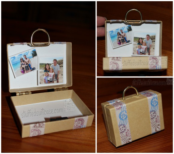 Suitcase DIY Christmas Ornament Craft for creating vacation memories StuffedSuitcase family travel