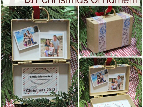 Diy Christmas Ornament Stuffed Suitcase Travel Memories