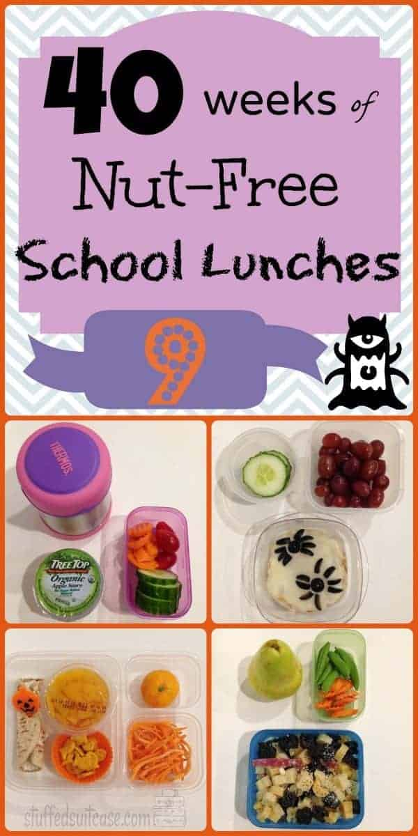 Week 9 of 40 Weeks of Nut Free Kids School Lunches StuffedSuitcase.com pack lunch