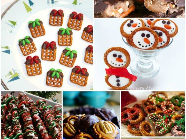 Christmas Pretzels Recipes Round Up - great for holiday treats and gifts StuffedSuitcase.com