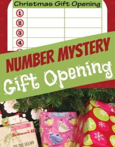 Christmas Wrapping Ideas Number Mystery Gift Opening for Christmas morning fun game StuffedSuitcase.com
