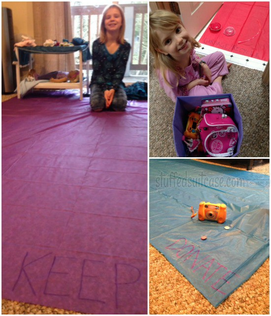 Declutter your Life: Kids Bedrooms - the 3 Pile Purge Tablecloth Plan StuffedSuitcase