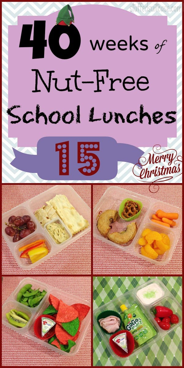 Week 15 of 40 Weeks of Nut Free Kids School Lunches - ideas for your own lunchbox meals StuffedSuitcase.com