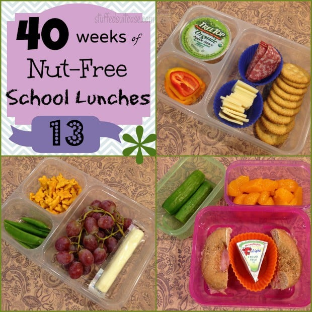Week 13 of 40 Weeks of Nut Free Kids School Lunches - lunch box packing ideas StuffedSuitcase.com