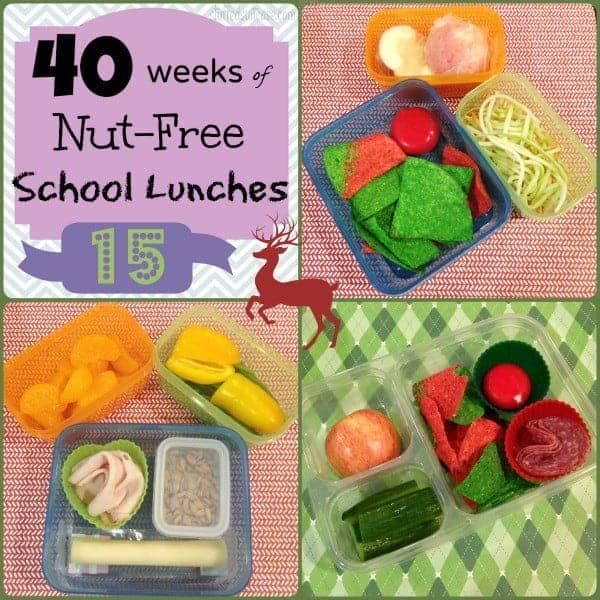 Christmas School Lunches Week 15 of 40 Weeks of Nut Free Kids School Lunches StuffedSuitcase.com