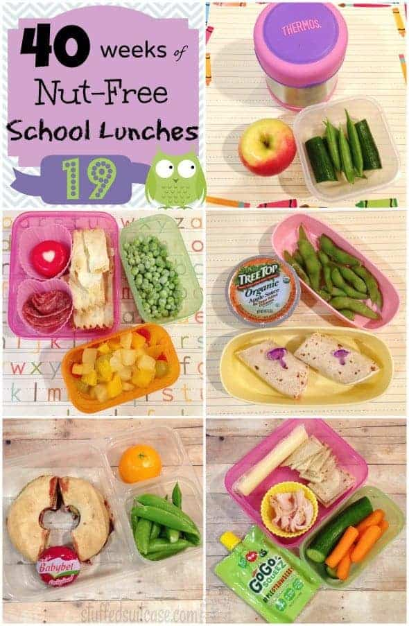 Week 19 of 40 Weeks of Nut Free Kids School Lunches - lunchbox packing ideas StuffedSuitcase.com
