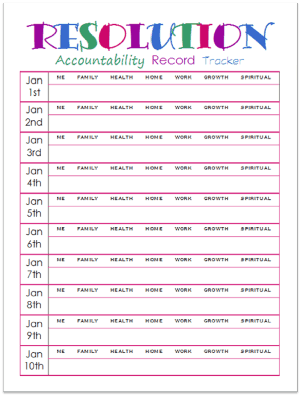 New year resolution template newyearsresolutionsaccountabilitytrackerg toneelgroepblik Images
