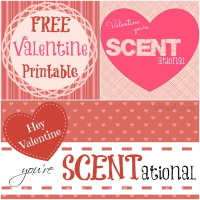 "Valentine Crafts DIY Sachets Free Printable ""Hey Valentine You're SCENTational"" StuffedSuitcase.com"