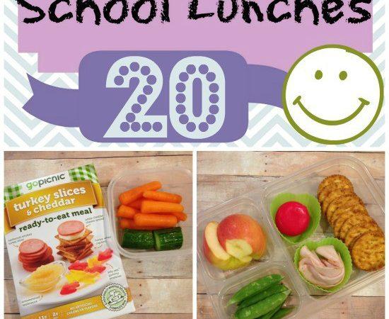 Week 20 of 40 Weeks of Nut Free Kids School Lunch Ideas - lunchbox packing StuffedSuitcase.com