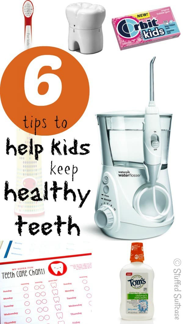6 Tips to Help Kids Keep Healthy Teeth and Practice Good Dental Health StuffedSuitcase.com