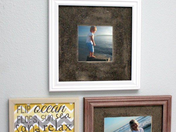 Beach Vacation Memories Diy Sand Photo Frames