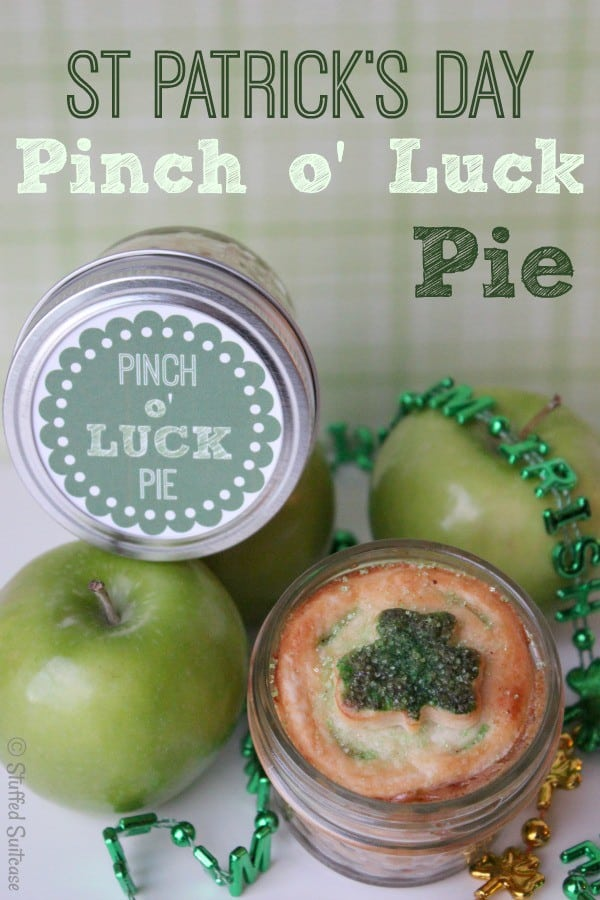 A Wee Bit o' Pie for celebrating St Patrick's Day and Pi Day with Pinch o' Luck Free Printable StuffedSuitcase.com
