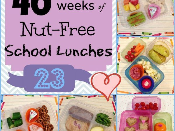 Week 23 of 40 Weeks Nut Free Kids School Lunches - for family lunch packing ideas StuffedSuitcase.com