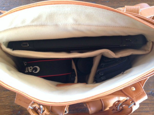 A look inside my Madison Epiphanie Bags Camera & Laptop Carry On Travel Bag + Giveaway StuffedSuitcase.com