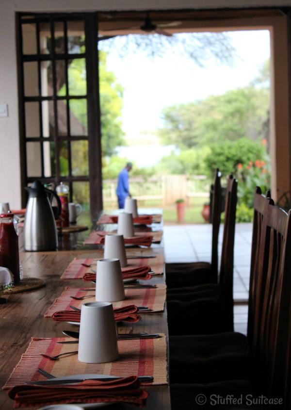 Breakfast Table at The Garden Lodge Kasane Botswana