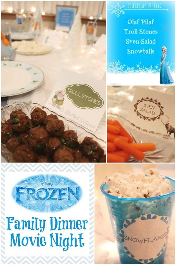 Frozen Party Family Movie Night and Dinner + Free Printables & Family
