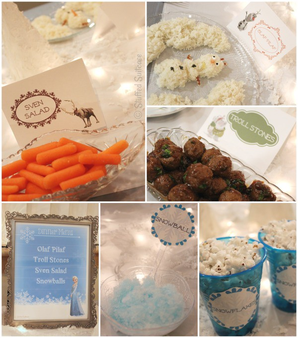 Frozen Crafts, Activities, Workbooks, Worksheets featured by top US Disney blogger, Marcie and the Mouse: Frozen Party Food for Family Night Dinner Menu and Movie Night + Free Printables StuffedSuitcase.com