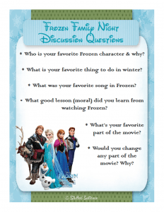 Frozen Movie Night Family Discussion Questions StuffedSuitcase.com
