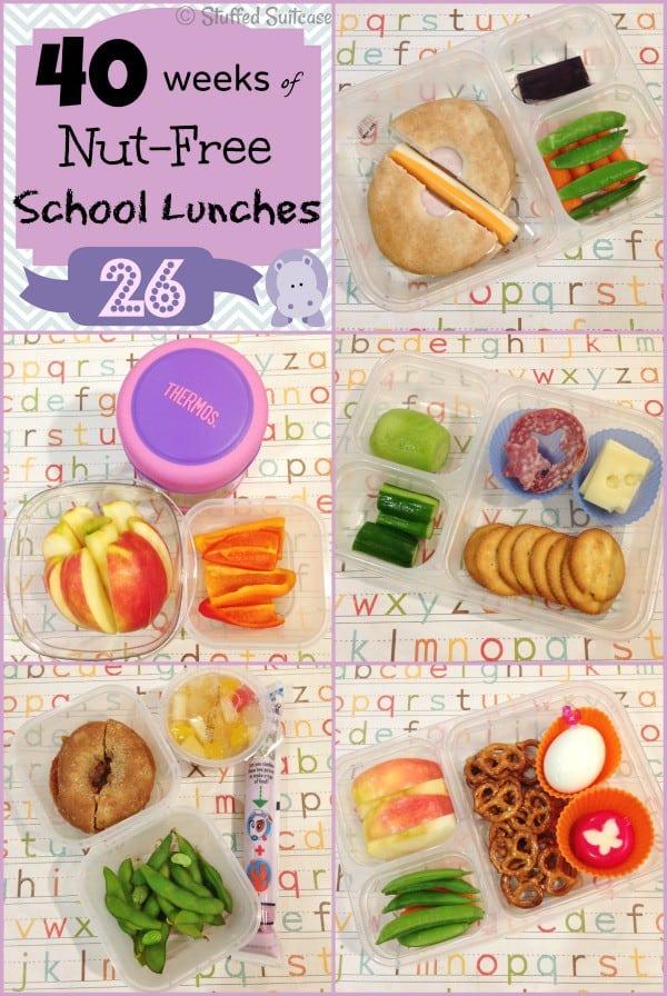 Kids Nut Free School Lunch ideas: Week 26 of 40 StuffedSuitcase.com lunchbox
