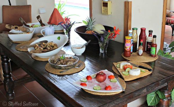 Lunch Meal Food at The Garden Lodge Kasane, Botswana StuffedSuitcase.com