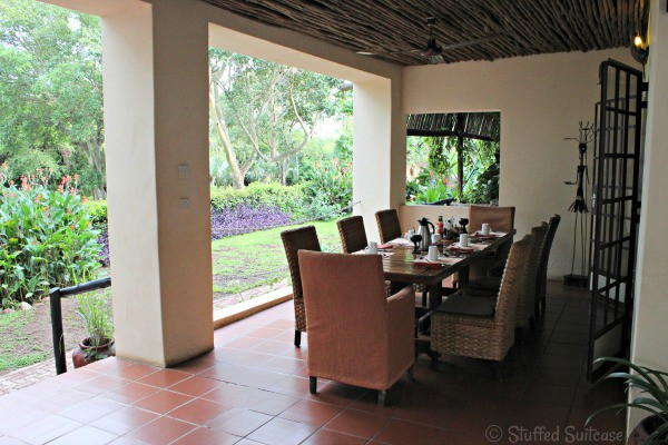 Outdoor Dining Table at the Garden Lodge