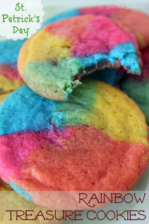 St. Patrick's Day Rainbow Treasure Cookies | StuffedSuitcase.com recipe
