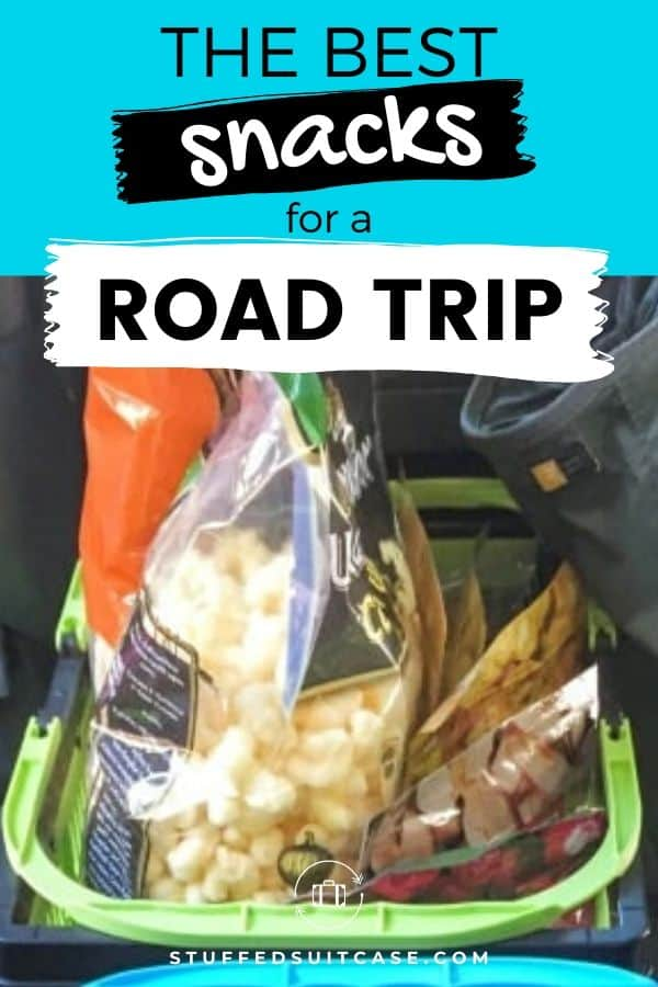 snacks in a car for a road trip