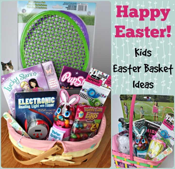 Easter basket ideas our girls basket gifts kids easter basket ideas stuffedsuitcase negle Images