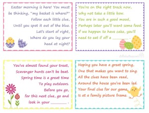 Easter Scavenger Hunt Clues For Kids Basket Gifts Love This Family Fun