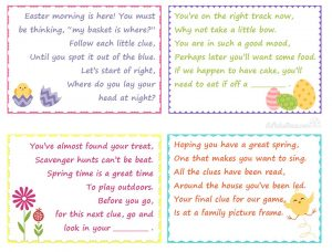 Easter Scavenger Hunt Clues for Kids Easter Basket Gifts - love this family fun game   StuffedSuitcase.com