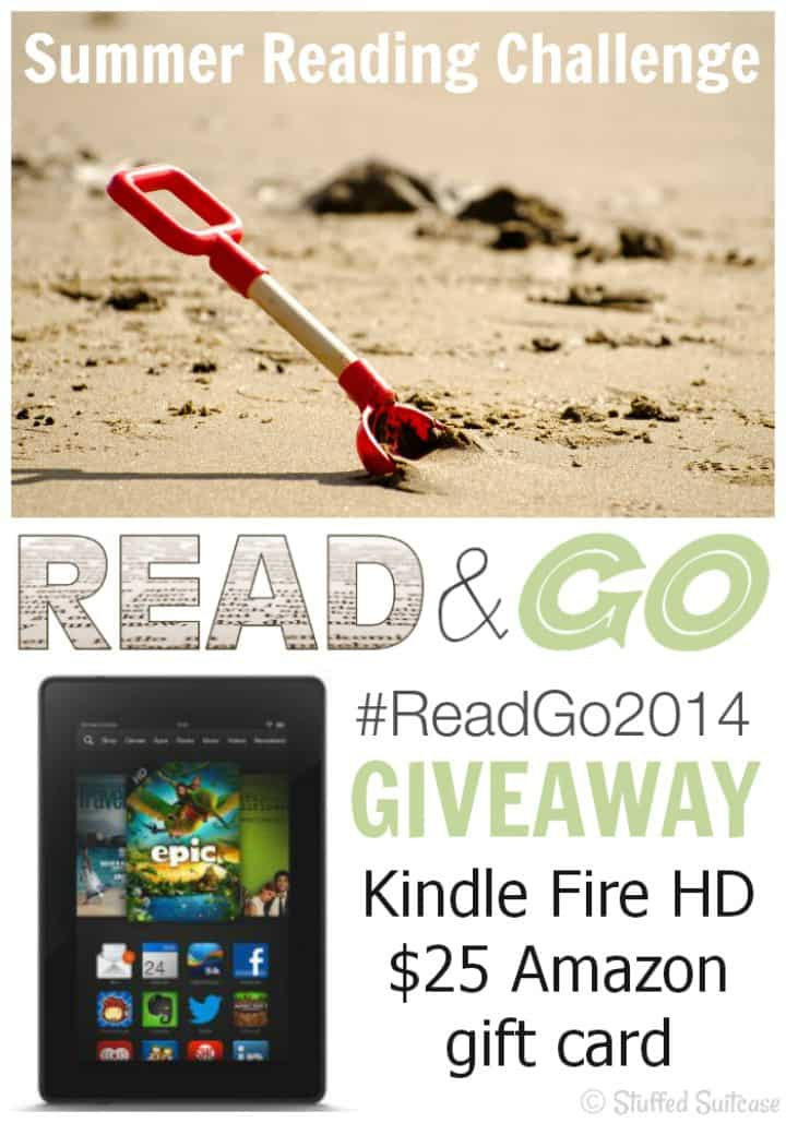 Summer Reading Challenge Read & Go 2014 with kick off giveaway for Kindle Fire HD and $25 Amazon gift card | StuffedSuitcase.com